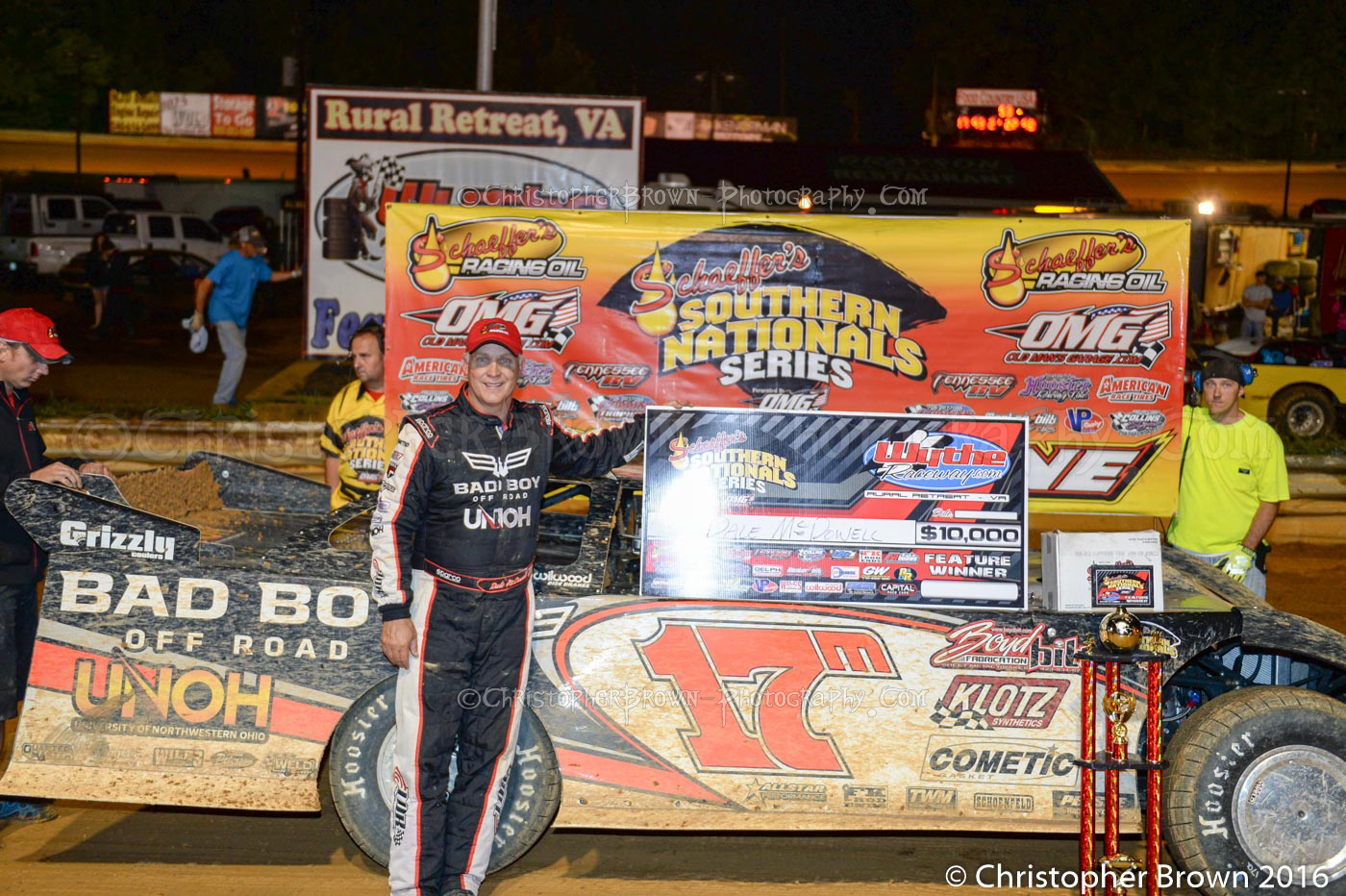 July 16 Wythe Raceway ~ Dale McDowell ~ Food Country USA Schaeffers Southern National Super Late Model Winner