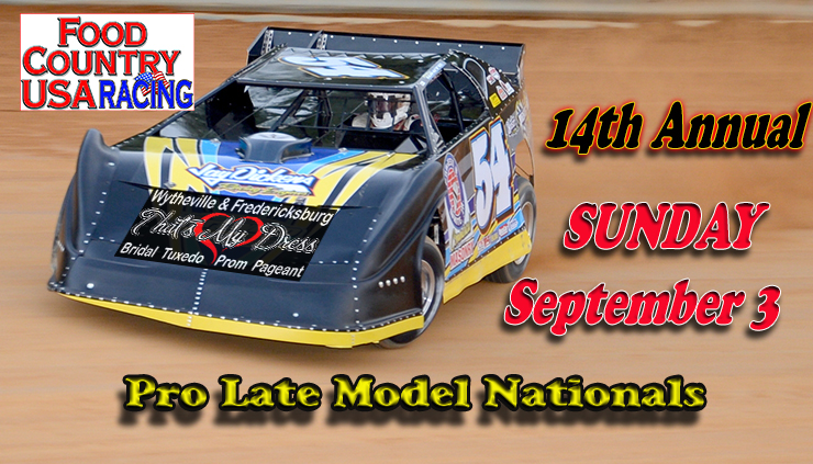 Sept. 3 Schedule of Events – Pro Late Nationals