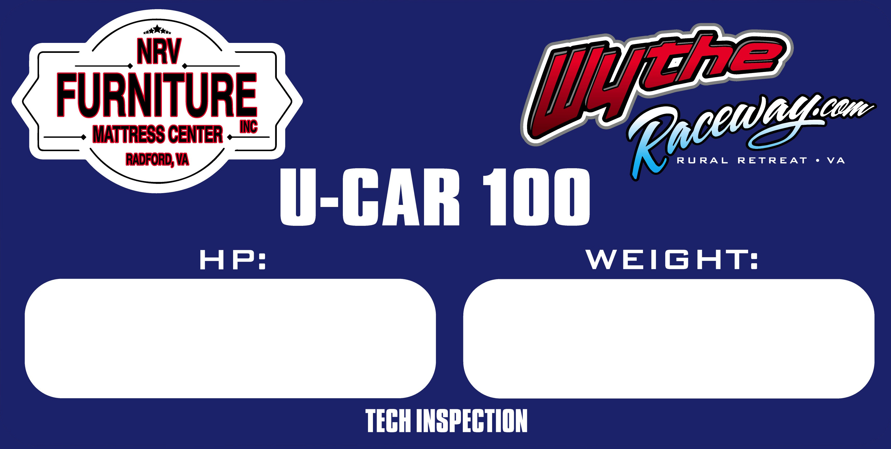 UCAR Pre-Tech – Saturday 4:30pm Pre-Race Tech Inspection for NRV UCARs.