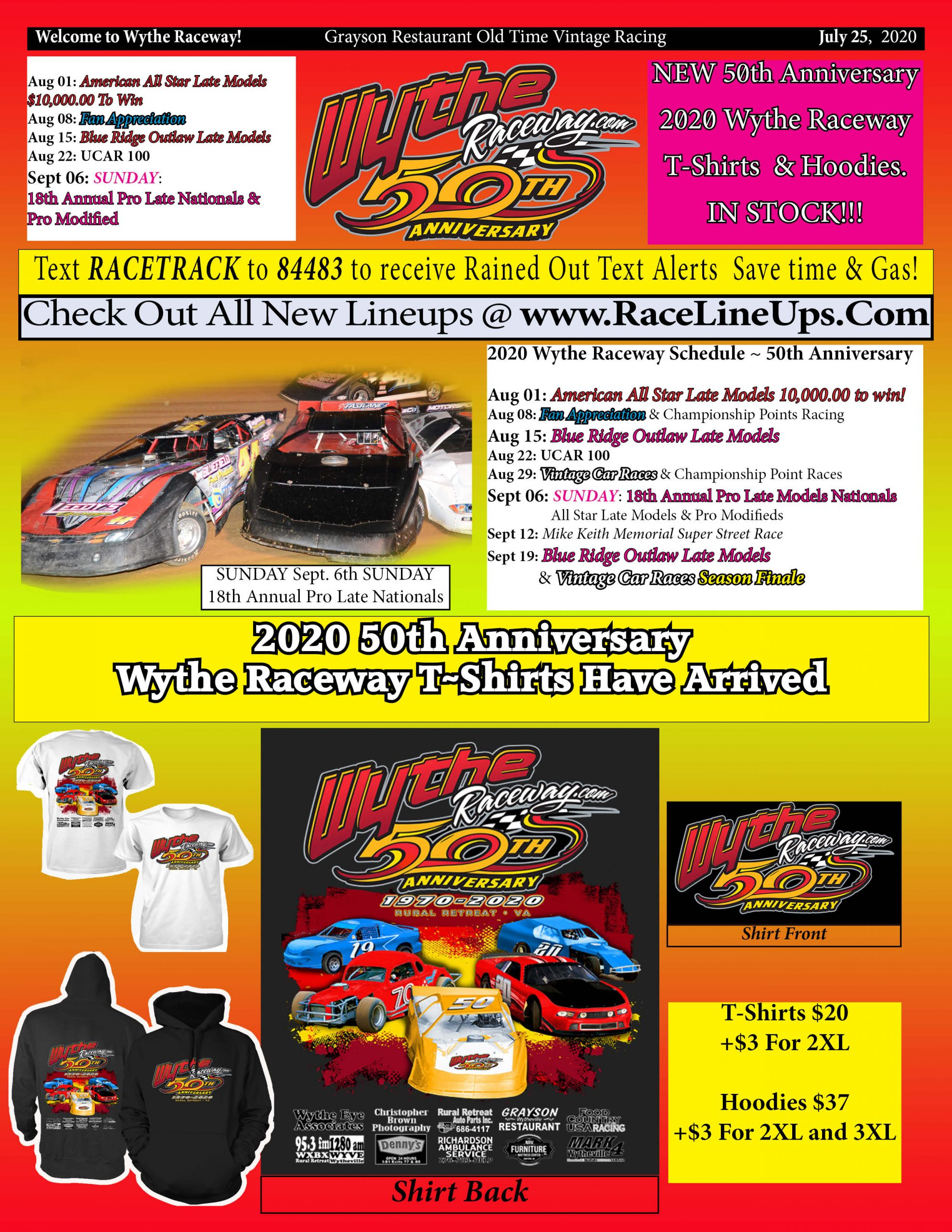 Grayson Restaurant Old Time Vintage Racing ~ Schedule of Events