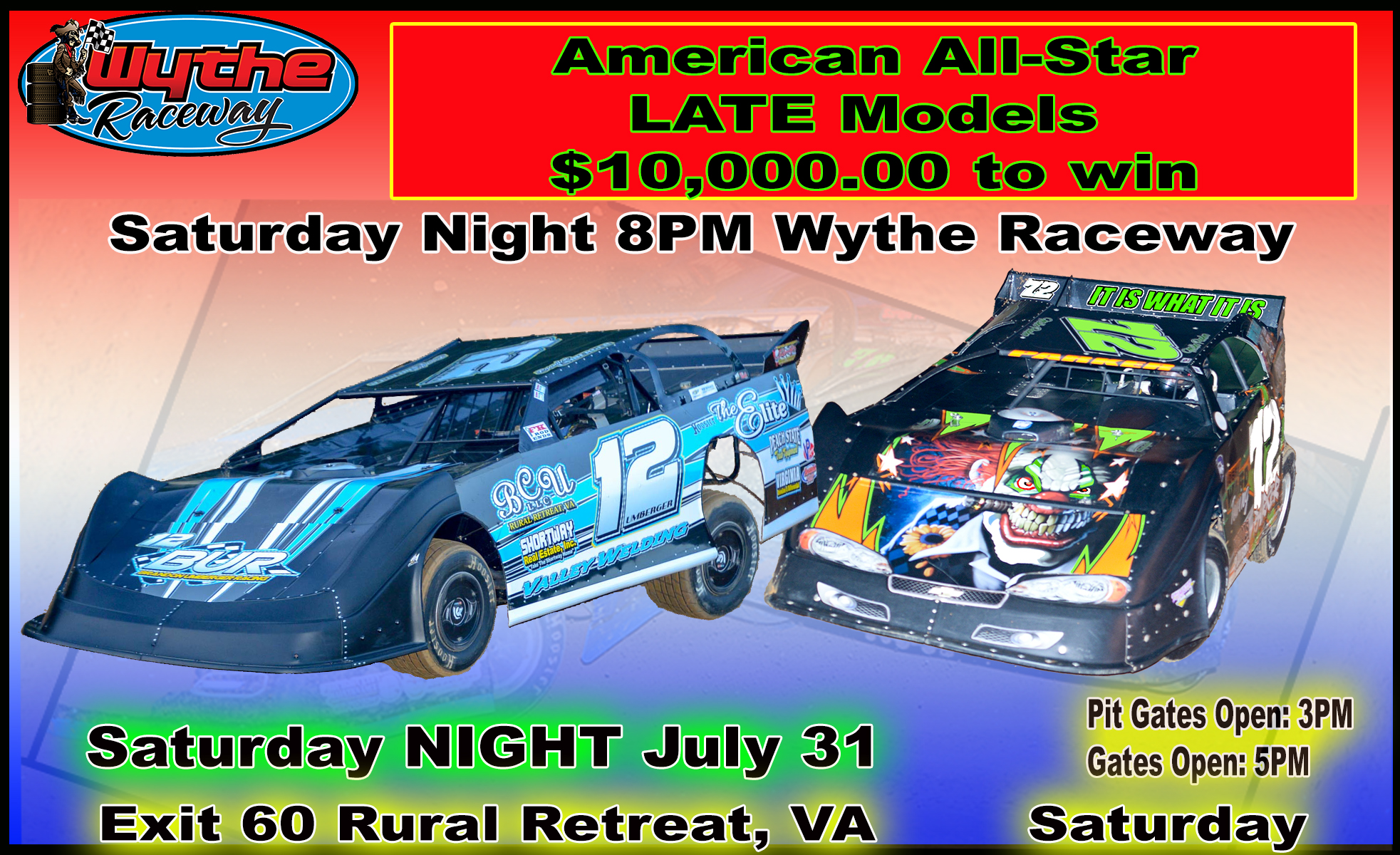 July 31 American All-Star Late Models ~ Entries as of 7-27