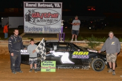 Shawn King of Wytheville wins the Pro Mini Feature Race